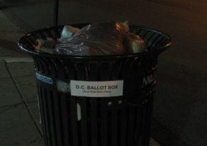 Votez ailleurs, votre bulletin finira ici