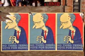 Votez Burns, vous vous ferez entuber mais au moins ça sera clair dès le départ