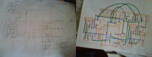 Rétroconception du schéma électrique et draft de l'implantation des composants sur le nouveau support
