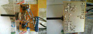 Réimplantation des composants sur la nouvelle plaque, recto et verso