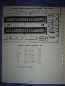 Page 36 du manuel, liste et implantation des composants de la carte des afficheurs