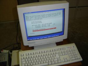 Installation de Debian sur l'antiquité