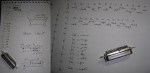 Mes notes de travail, toujours aussi soignées...