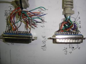 Connecteurs DB-25 après intervention