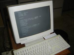Un morceau du programme à l'écran