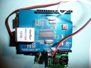 Le shield Ethernet connecté sur l'Arduino