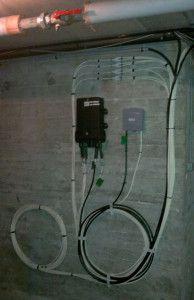 Arrivée de la fibre optique dans la cave
