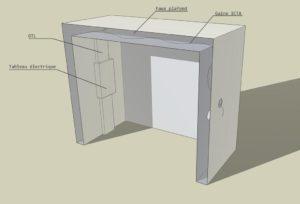 Schéma du placard à câbler